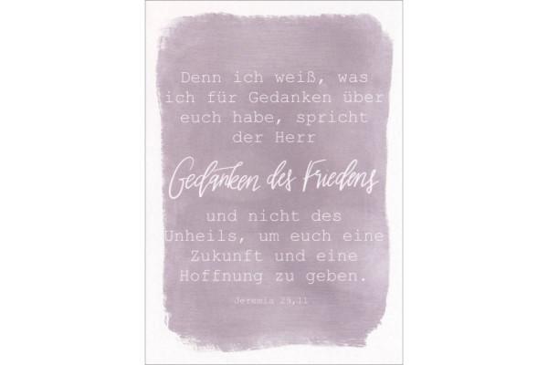 """Postkarte """"Gedanken des Friedens"""""""