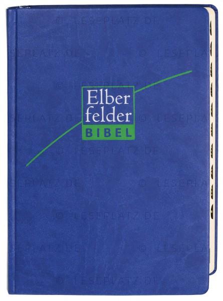 Elberfelder Bibel 2006 mit Schreibrand und Registerstanzung / ital. Kunstleder dunkelblau