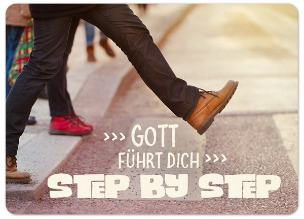 "Postkarte ""Big Blessing - Step by step"""