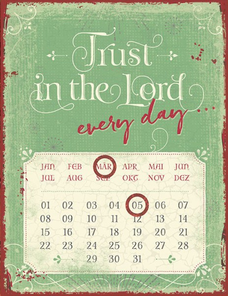 "Magnetkalender ""Trust in the Lord"""