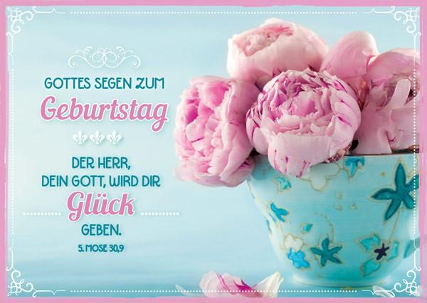 "Postkarte ""Gottes Segen zum Geburtstag - Rosen"""