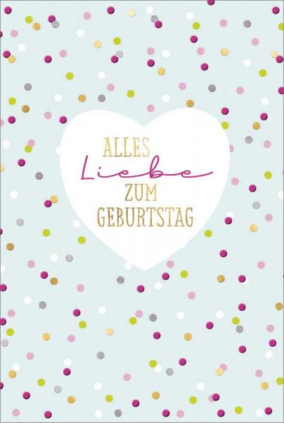 """Doppelkarte """"Alles Liebe/ Herz"""""""