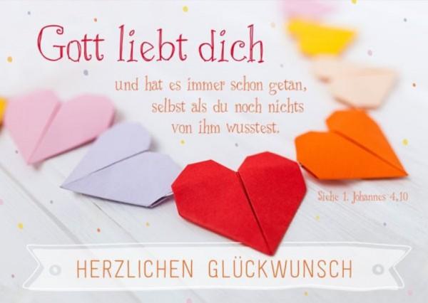 """Postkarte """"Gott liebt dich"""""""