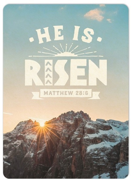 "Postkarte ""Big Blessing - He is risen"""