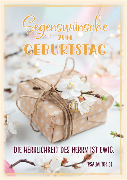 """Faltkarte """"Päckchen mit Kirschblüten"""""""