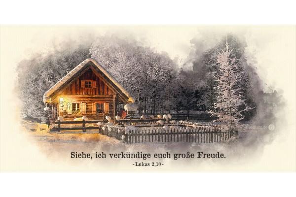 Faltkarte Art 02 Winterhütte