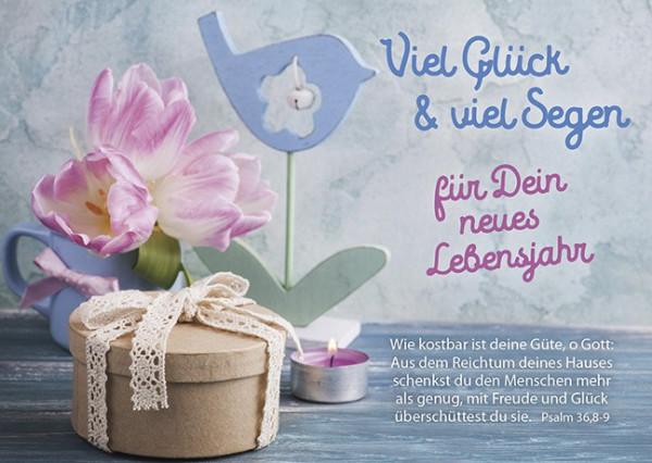 "Postkarte ""Viel Glück & viel Segen"""
