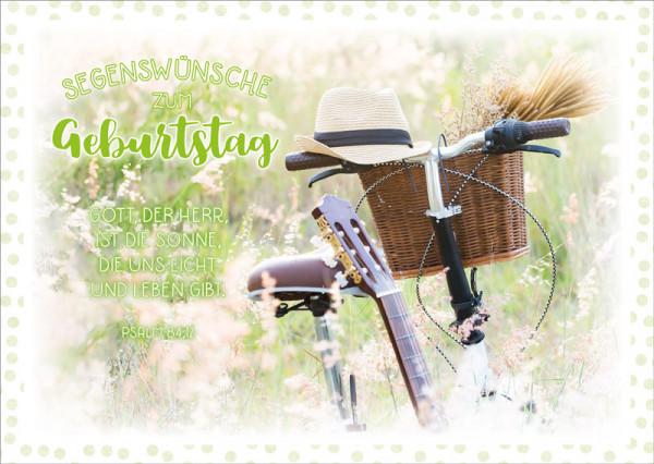 "Faltkarte ""Hut auf Fahrradlenker"""