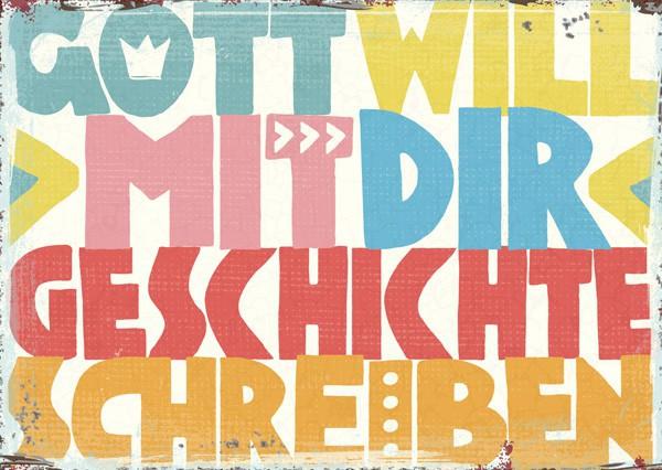 """Postkarte """"Geschichte schreiben"""""""