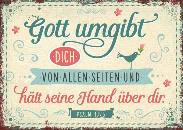 """Postkarte """"Gott umgibt dich von allen Seiten """""""