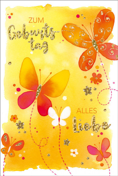 "Faltkarte ""Schmetterlinge Aquarell"""