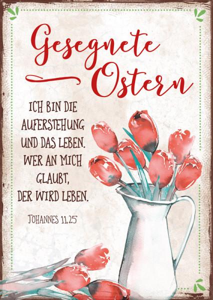 """Postkarte """"Ostern Rote Tulpen"""""""
