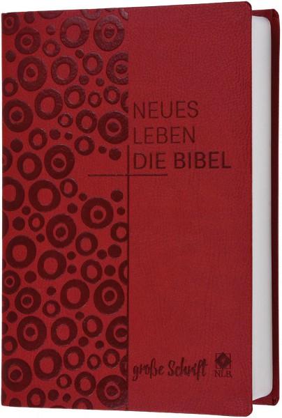 Neues Leben. Die Bibel - In großer Schrift - Kunstleder rot