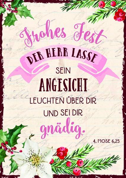 "Postkarte ""Frohes Fest Poesie"""