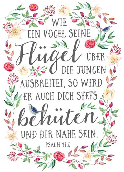 """Postkarte """"Big Blessing - Wie ein Vogel"""""""