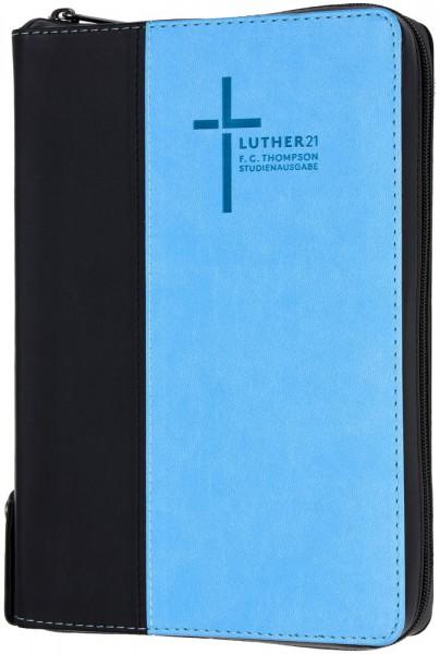 Luther21 - F.C.Thompson Studienausgabe - Standard - Kunstleder schwarz/blau