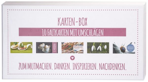 Karten-Box 2 10 Faltkarten mit Umschlägen