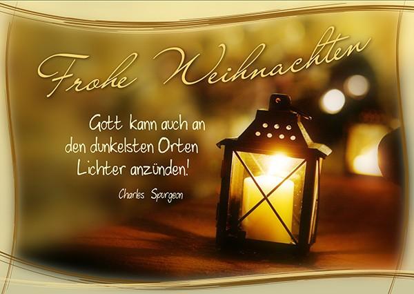 """Postkarte """"Frohe Weihnachten - Lichter anzünden"""""""