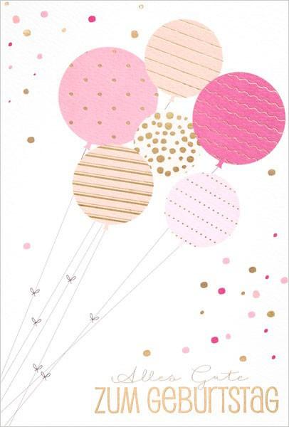 "Faltkarte ""Luftballons"" - Geburtstag"