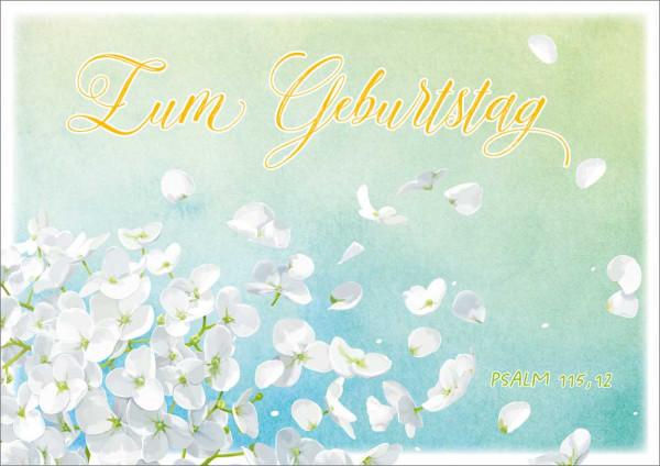 "Doppelkarte ""Weiße Blüten"""