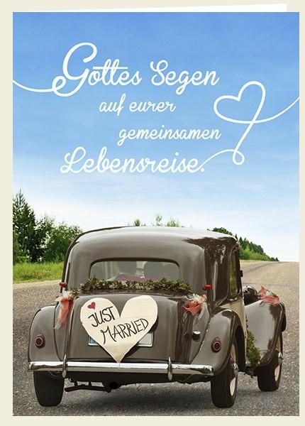 Faltkarte - Zur Hochzeit - Just married