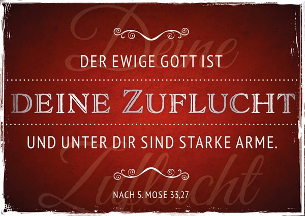 "Postkarte ""Der ewige Gott"""