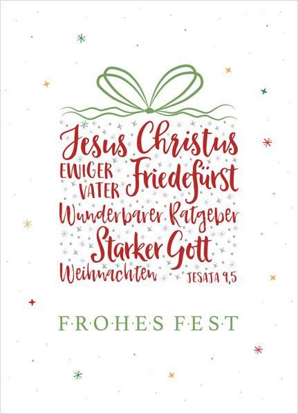 Postkarte - Big Blessing Silber - Frohes Fest (Geschenk)