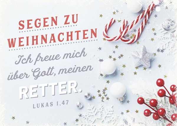 Postkarte - Segen zu Weihnachten (Retter)