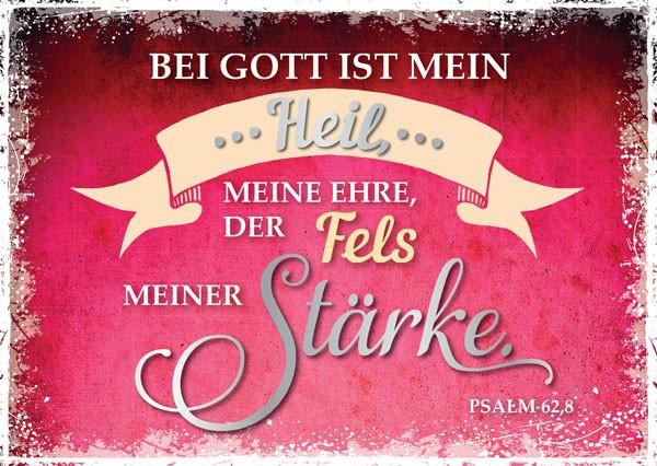 """Postkarte """"Bei Gott ist mein Heil"""""""