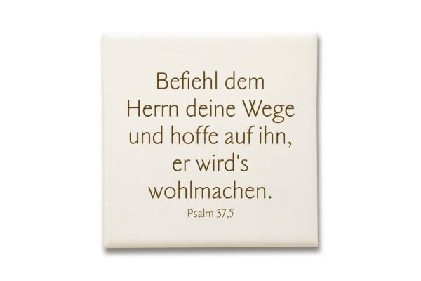 """Keramikfliese """"Befiehl dem Herrn..."""""""