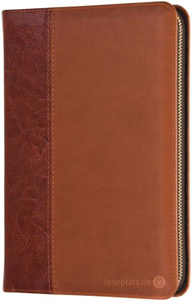 Elberfelder 2003 - Taschenausgabe / Kunstleder braun / Goldschnitt / Reißverschluss