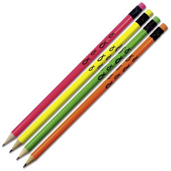 "Bleistift ""Neon"" - mit Radiergummi"