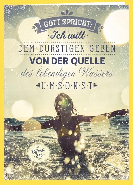 """Faltkarte """"Jahreslosung 2018 (Wasser)"""""""