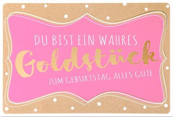 "Faltkarte ""Goldstück"" - Geburtstag"