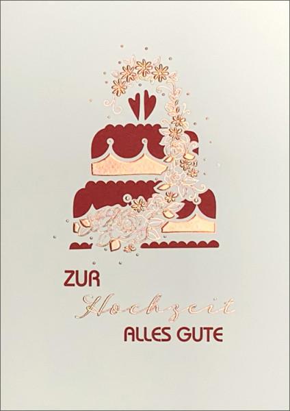 """Doppelkarte """"Hochzeitstorte"""""""