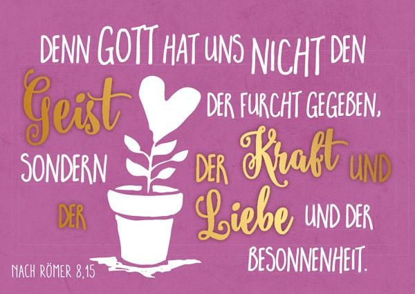 """Postkarte """"Denn Gott hat uns"""""""