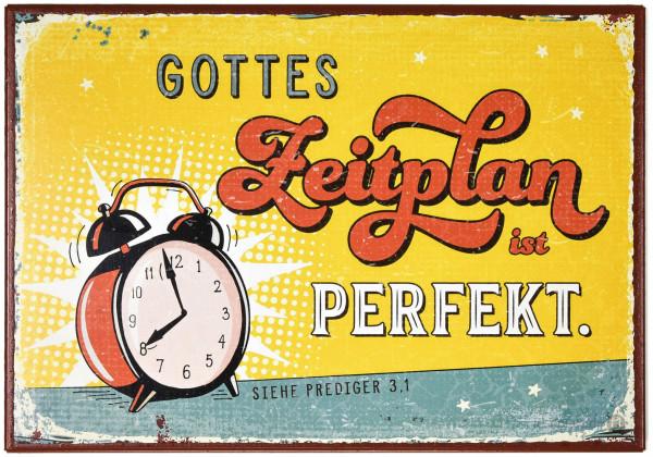 """Metallschild """"Gottes Zeitplan"""""""