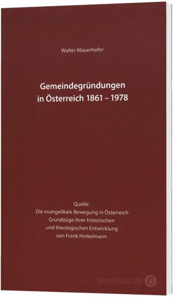 Gemeindegründungen in Österreich 1861-1978