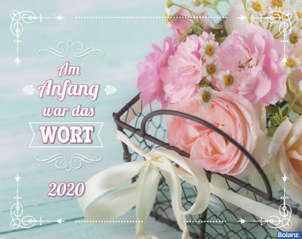 Am Anfang war das Wort 2020 - Wandkalender