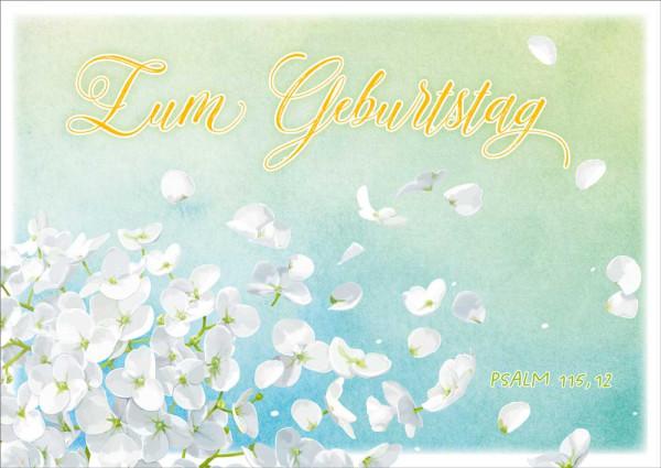 "Postkarte ""Weiße Blüte"""