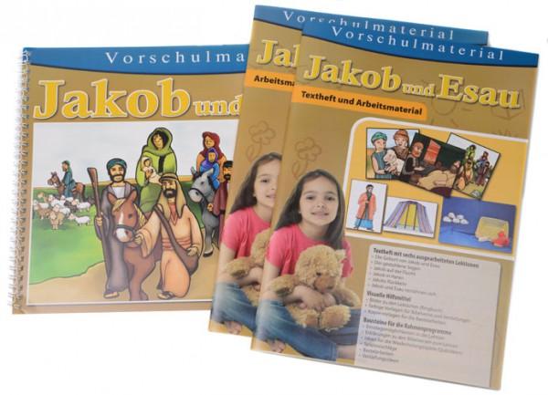 Jakob und Esau Textheft / Arbeitsmaterial / Ringbuch mit 30 Bildern inkl. CD-ROM mit Text und Vorlag