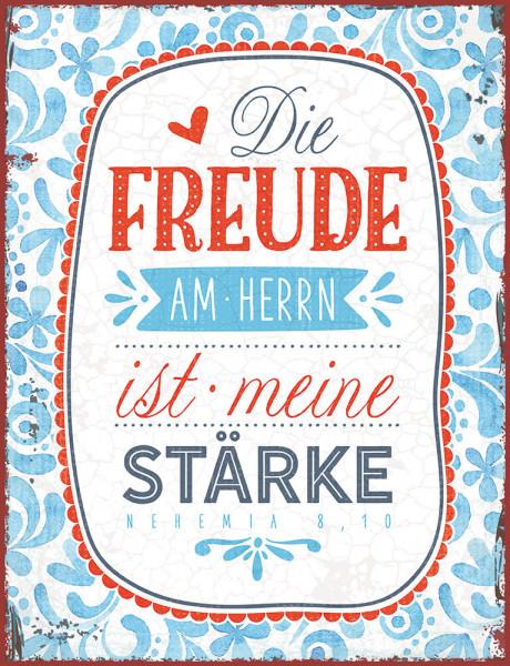 """Metallschild """"Die Freude am Herrn"""""""