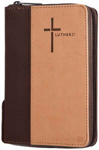 Luther21 - Taschenausgabe - Kunstleder Cowboy-braun/beige