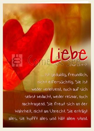 Faltkarte - Liebe ist ... (1. Kor.13)