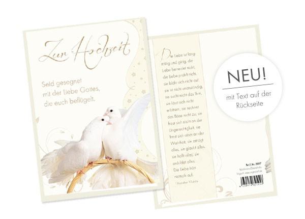 Faltkarte - Zur Hochzeit - Seid gesegnet