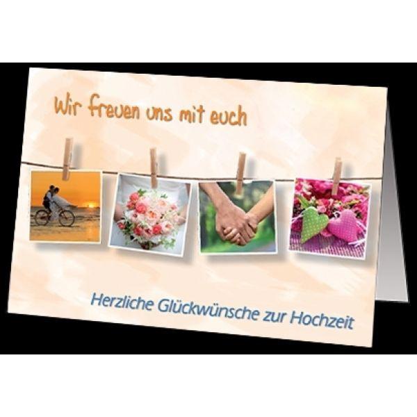 """Faltkarte """"Herzliche Glückwünsche zur Hochzeit"""""""