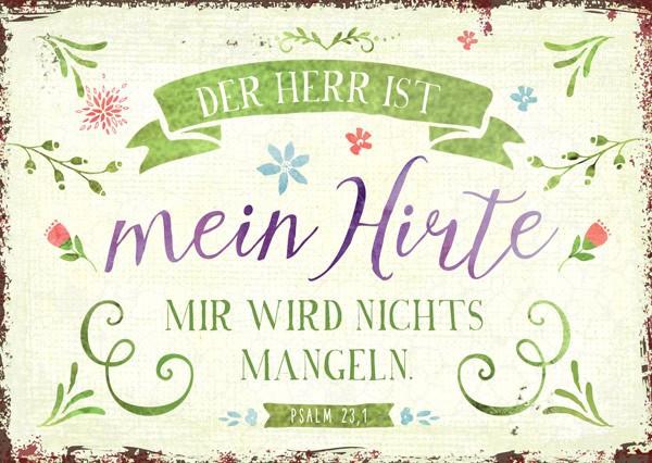 "Postkarte ""mein Hirte"""