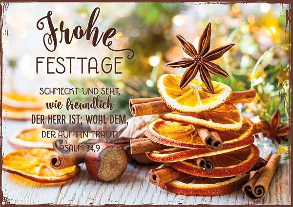 """Postkarte """"Schmeckt und seht"""""""