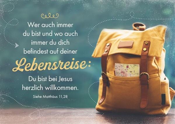 "Postkarte ""Bei Jesus willkommen"""