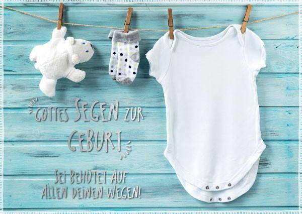 """Postkarte """"Gottes Segen zur Geburt"""""""